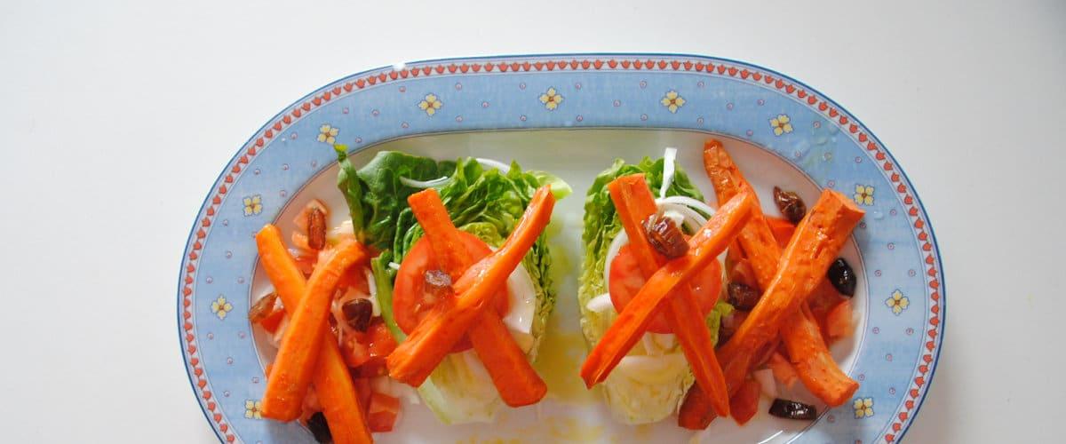 Cogollos con zanahoria al microondas