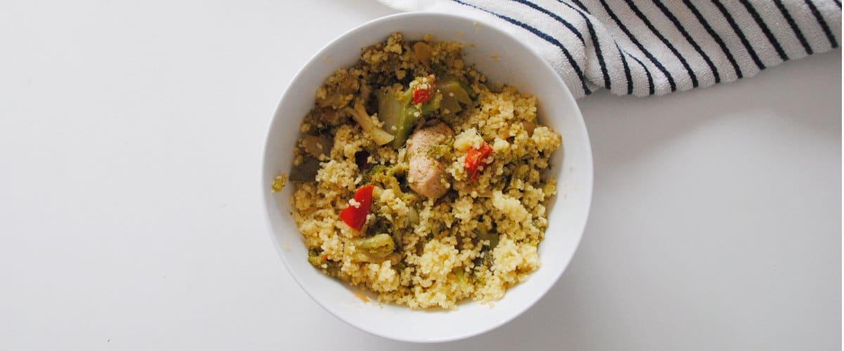 Cuscús con pollo y brócoli