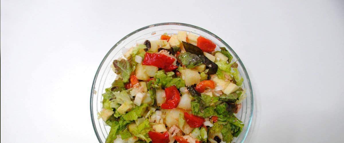Ensalada de patata y pimientos